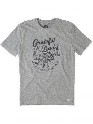 cbbbdfee Life is Good Men's Grateful Dad Adirondack Chair Short Sleeve Crusher Tee,  Available at #EssentialApparel