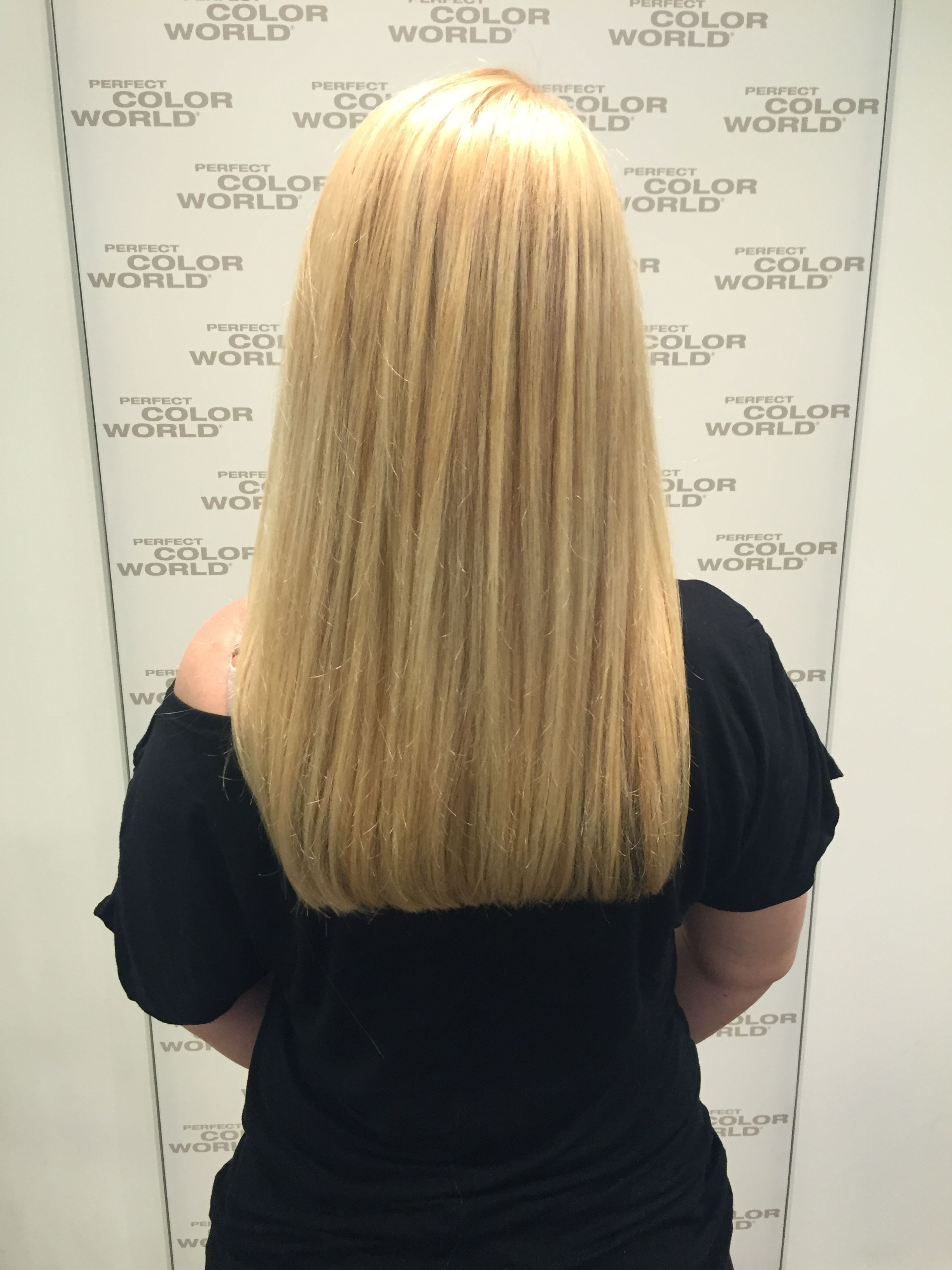 Beach blonde with highlights bold cut by marie perfectcolorworld
