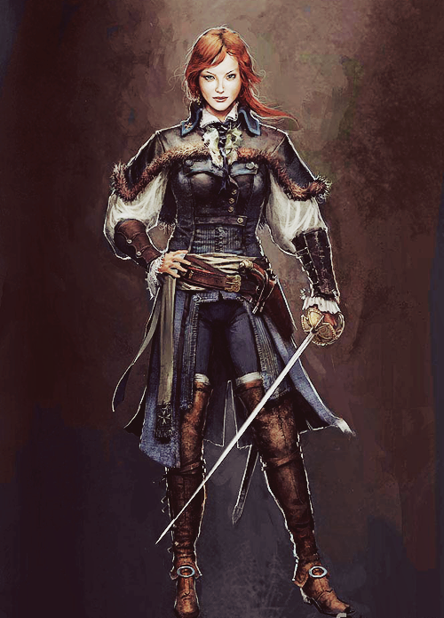 assassins creed unity elise concept art