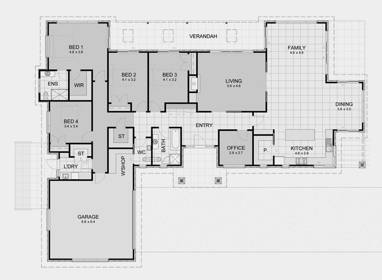 alternate floor plan 2235 brookdale alternate floor plan 1 ranch
