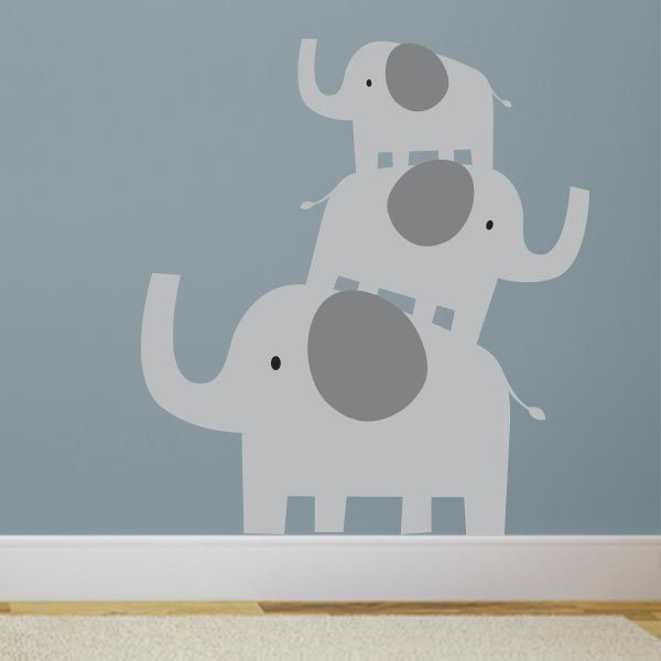 Charming Stacked Elephants Wall Decal | Wall Decal World