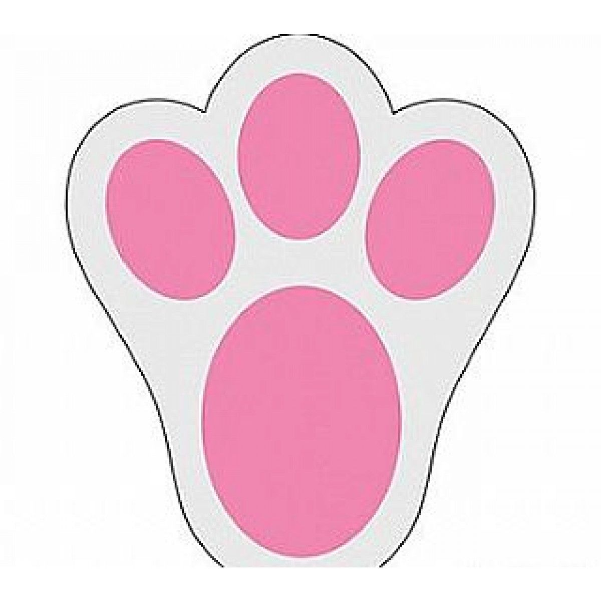 easter bunny footprint stencils clipart free clipart holiday