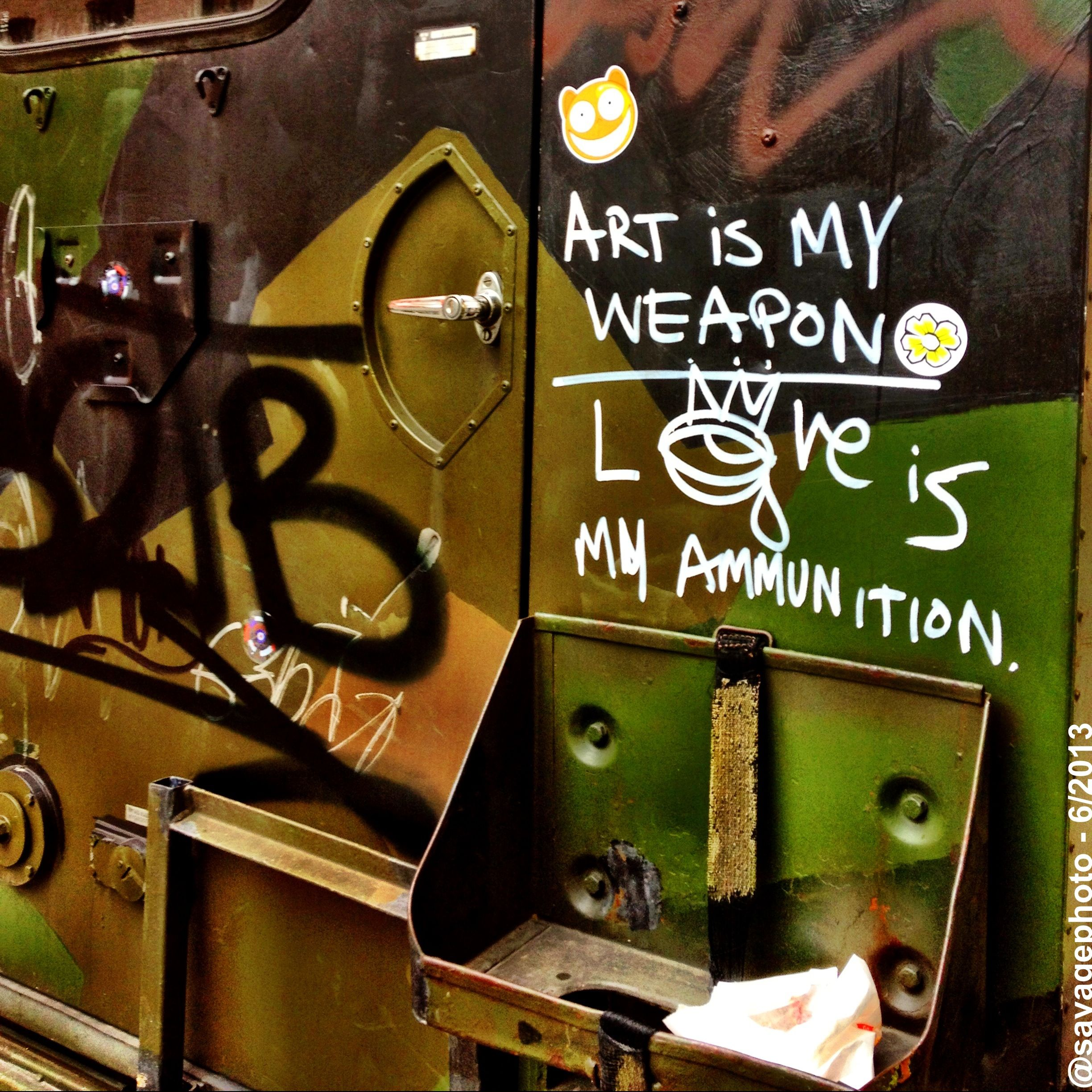 Art is my weapon - Love is my Ammunition - Oslo - Norway (Norge)