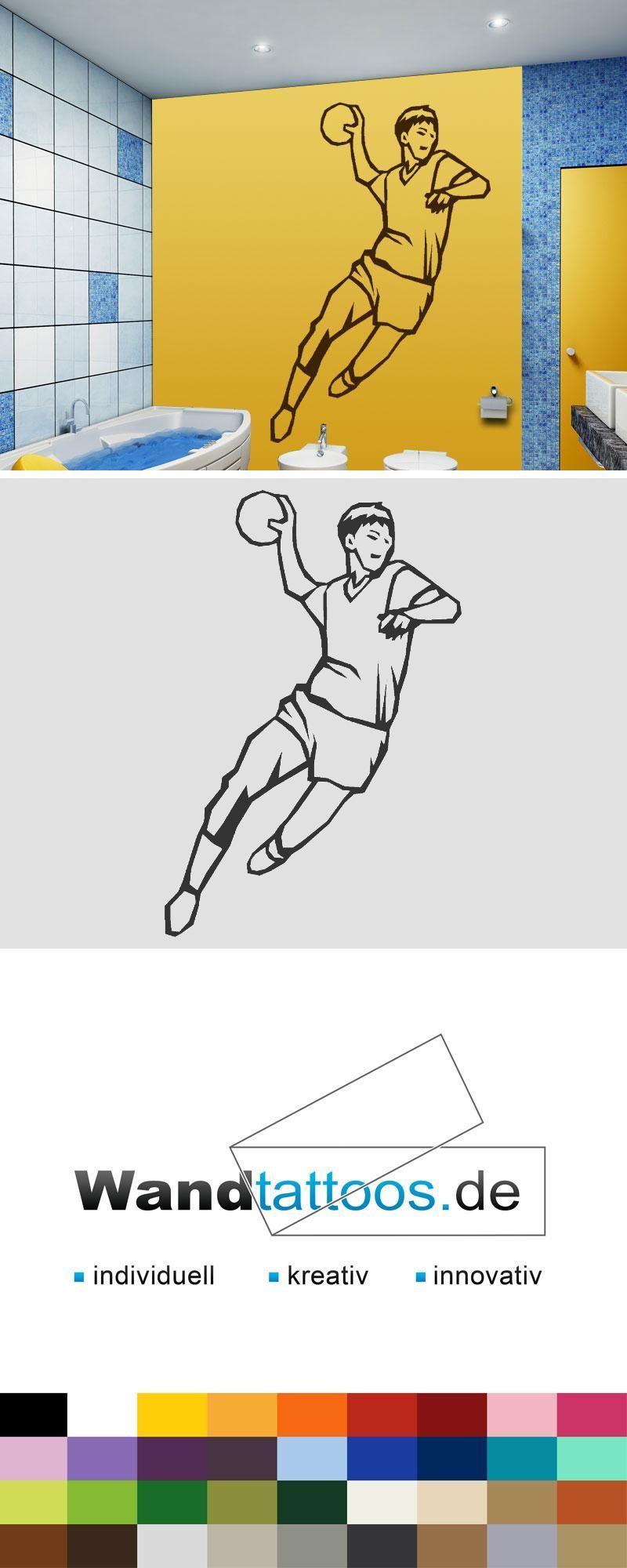 wandtattoo handball spieler als idee