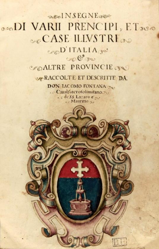 insegne di vari prencipi et case illustri d italia insegne