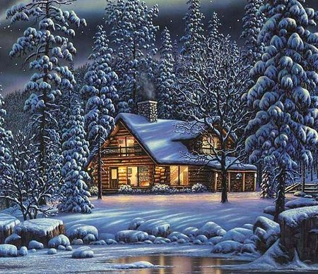 Winter Cottage Pictures Winter Cottage Christmas Art Cottage