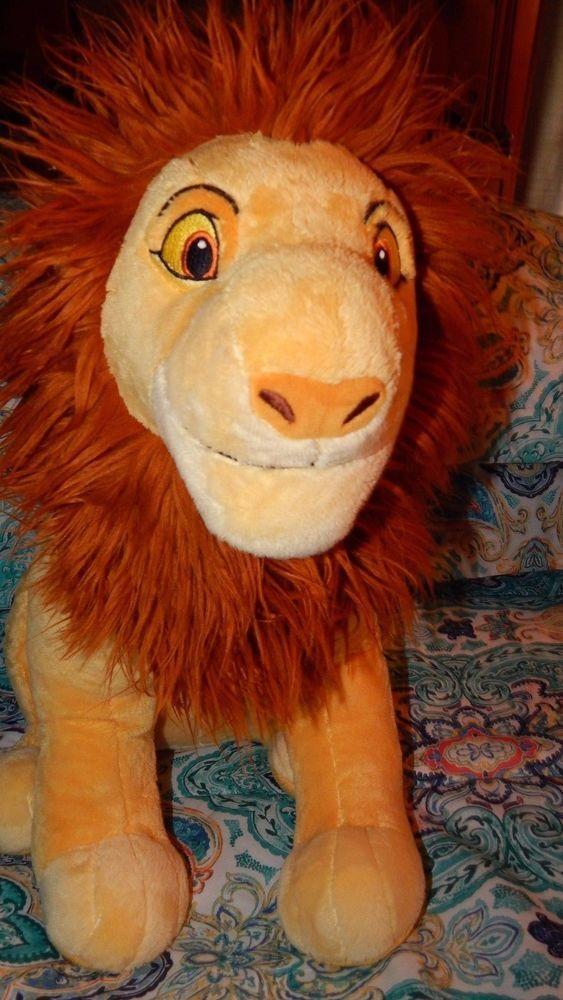 Disney Store Lion King Mufasa Adult Simba Plush 21 Large Stuffed
