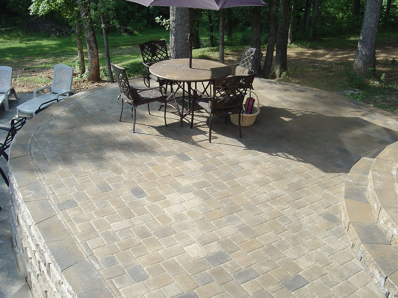 Covering Concrete Walkway With Pavers | Southern Tradition Dublin Blend Non Tumbled  Pavers