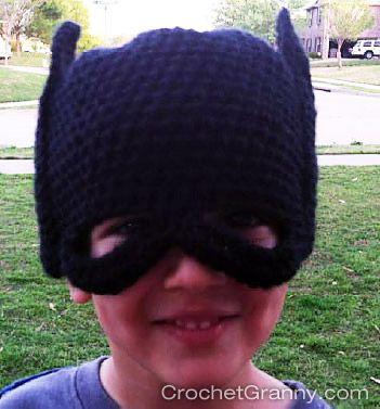Batman Mask Crochet Pattern Crochet Pinterest Batman Mask