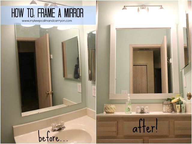 Spd How To Frame A Mirror Budget Bathroom Remodel Bathroom