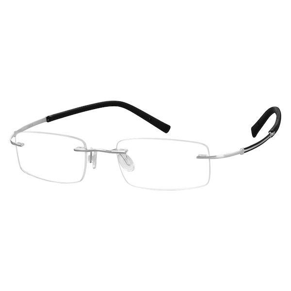 b8a4d01bced7 Gray Titanium Rimless Glasses #138012   Zenni Optical Eyeglasses ...