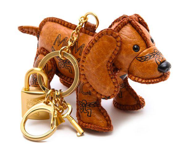 MCM Heritage Dog Charm Keychain  5b9a81f317268