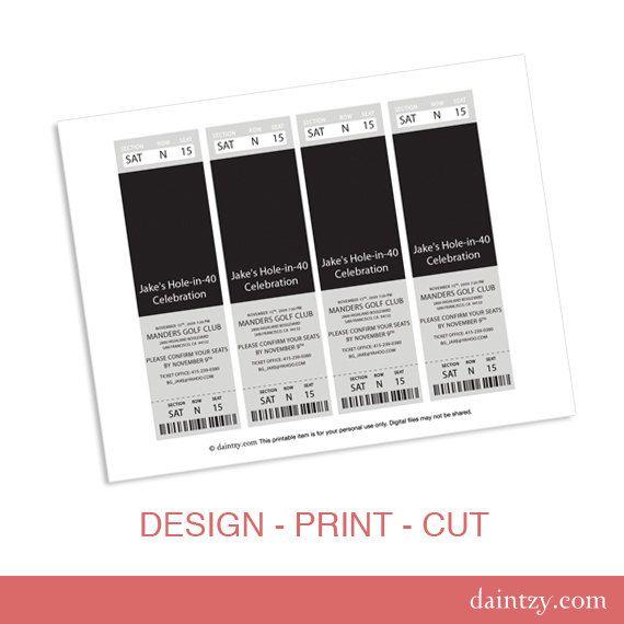 Doc1352763 Free Printable Ticket Invitations Free Printable – Free Printable Tickets for Events
