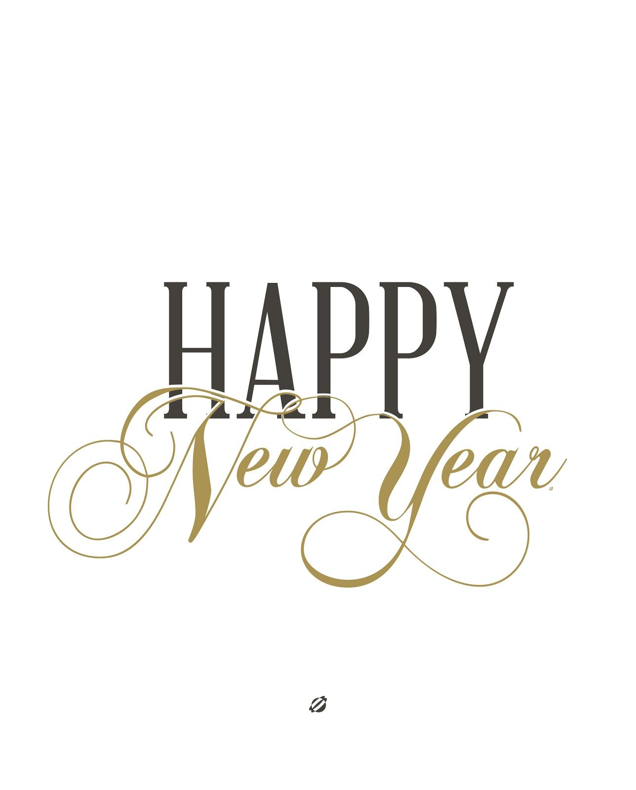 Lostbumblebee Happy New Year Free Printable Personal Use Only
