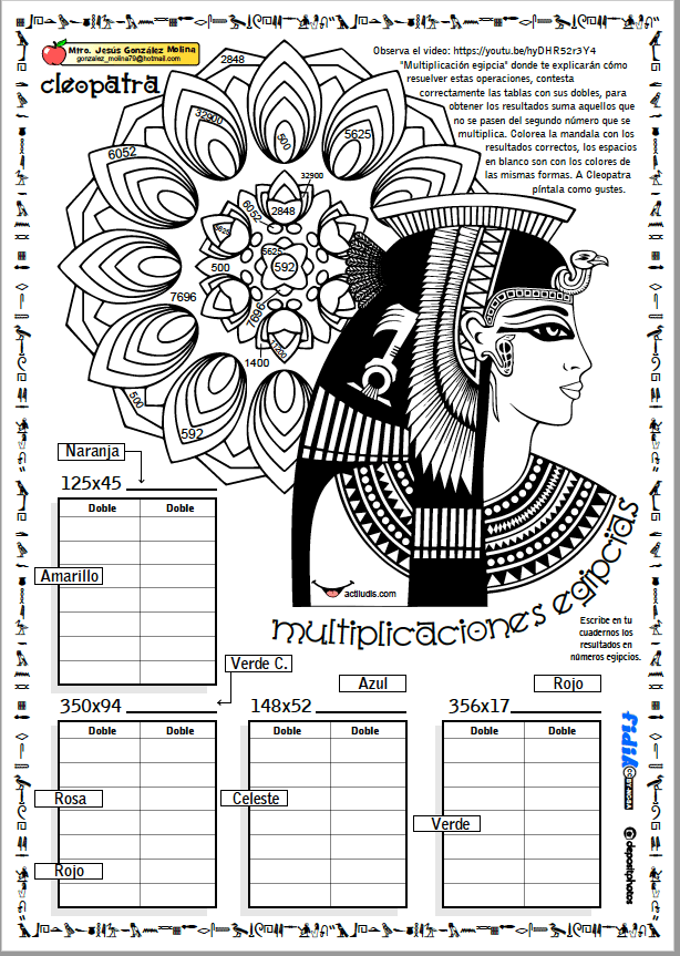 Multiplicación egipcia - Actiludis | matematica-5-9 | Pinterest ...