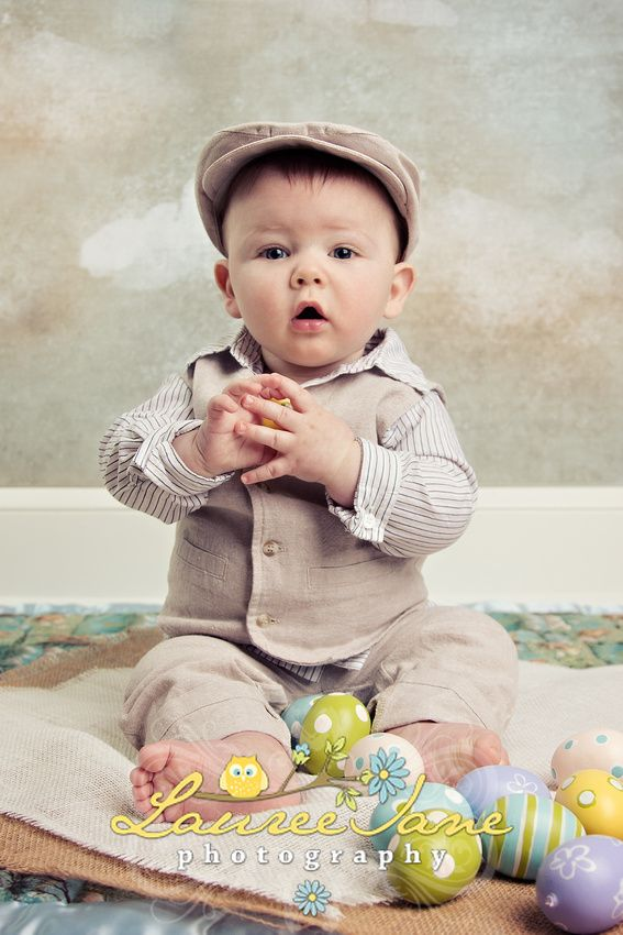 Easter baby photo idea easter newborn photo idea clouds baby holiday photographer erie pa lauree jane photography