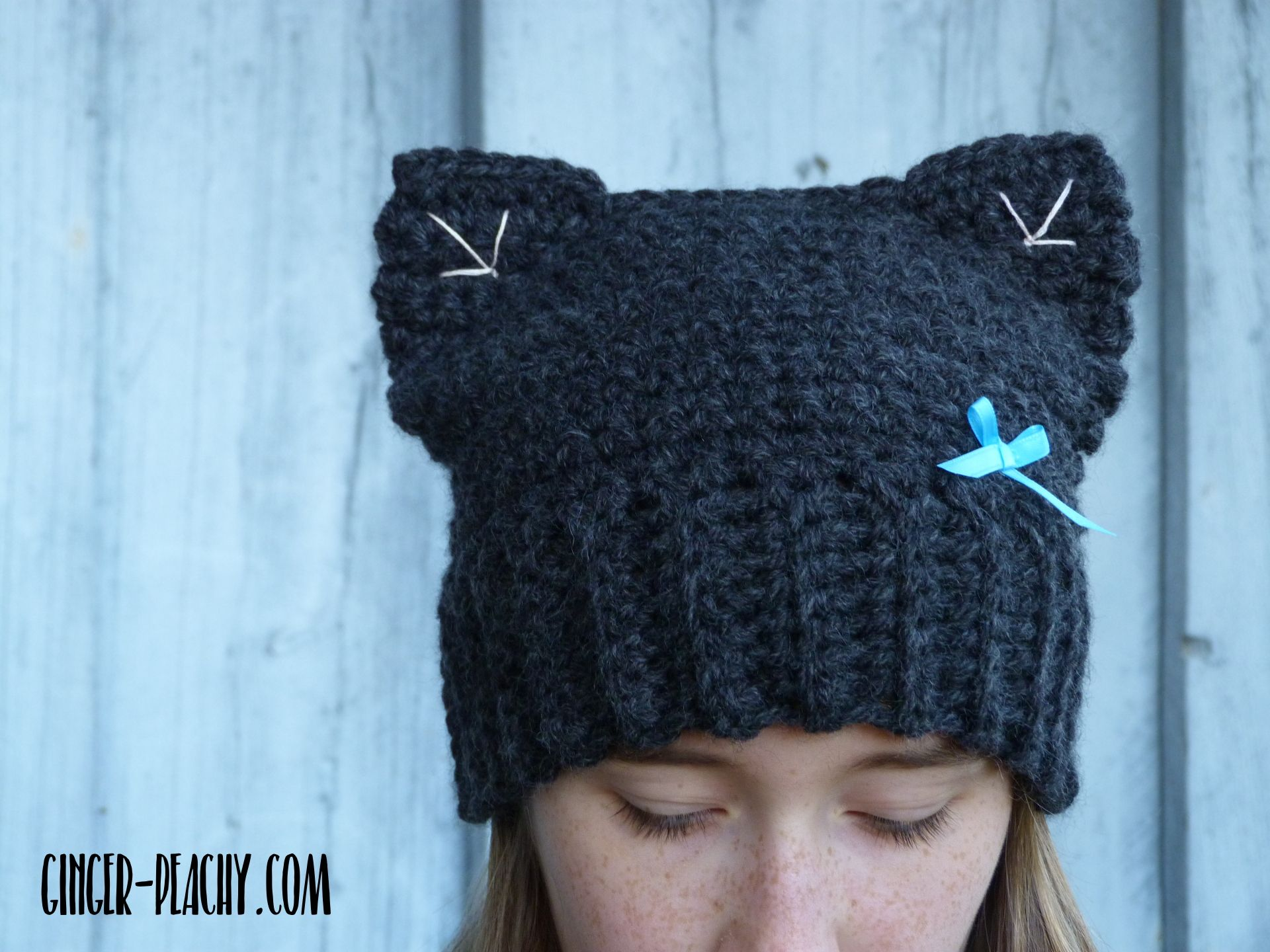 Looking for a new twist on the beanie pattern? Add ears! Introducing ...