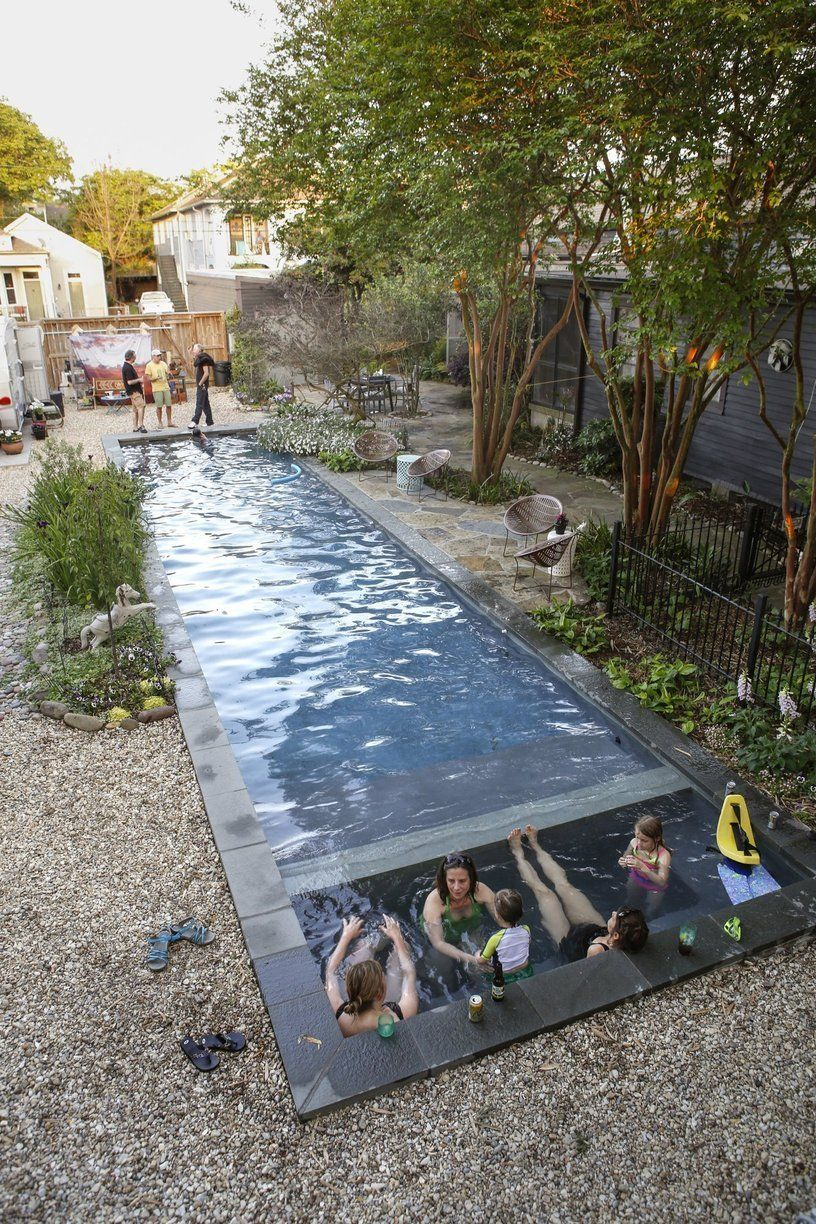Image Result For Mid Century Modern Rectangle Pool Backyard  # Muebles Moedano
