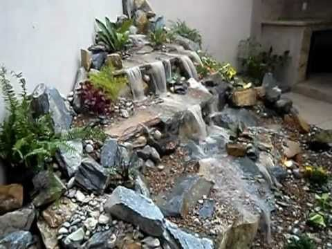Cascadas de agua sin estanque Cascadas jardines Pinterest