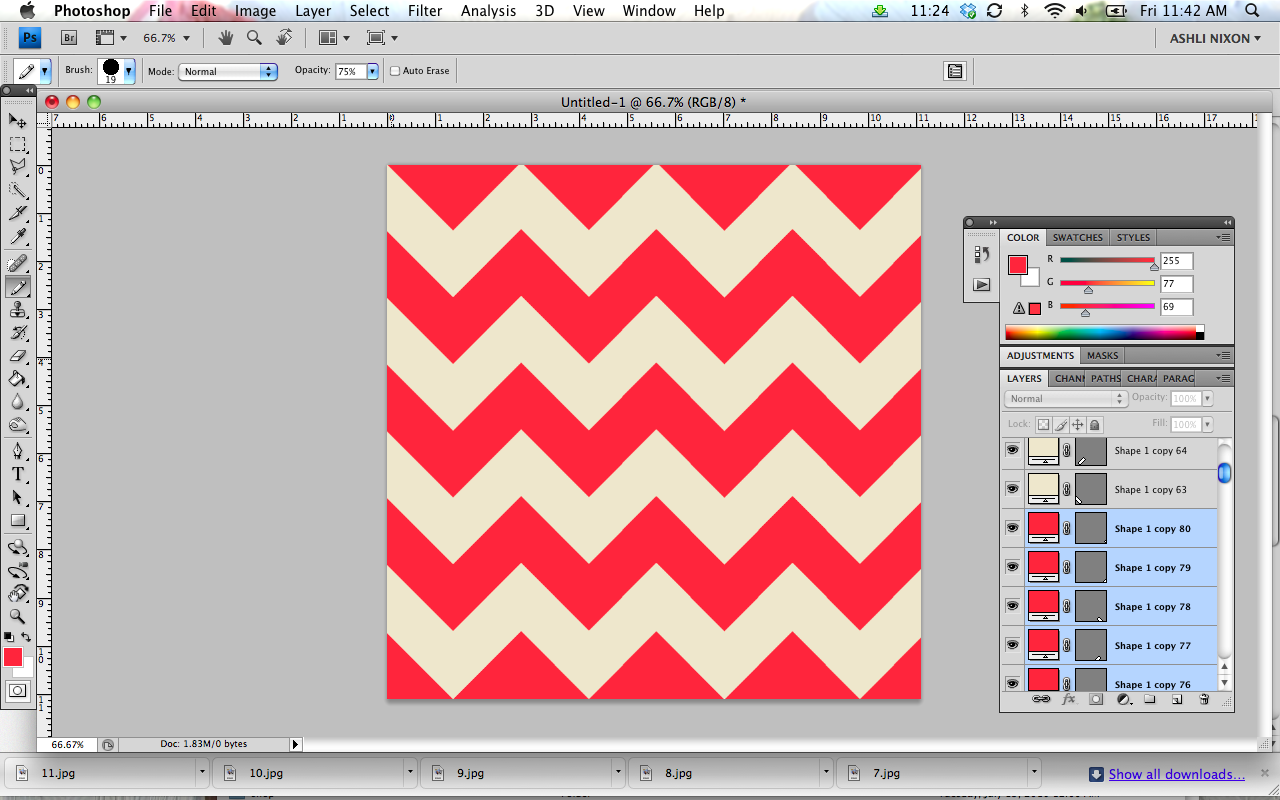 How to make a chevron print in Photoshop.