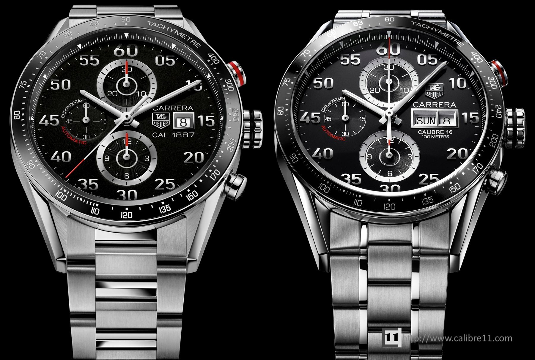254b71a9d29 Calibre 16 vs. Calibre 1887 Tag Heuer Carrera Automatic