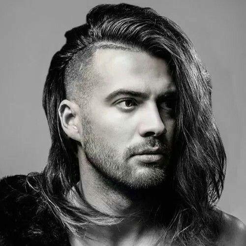 Side Cut Long Hairstyles For Men