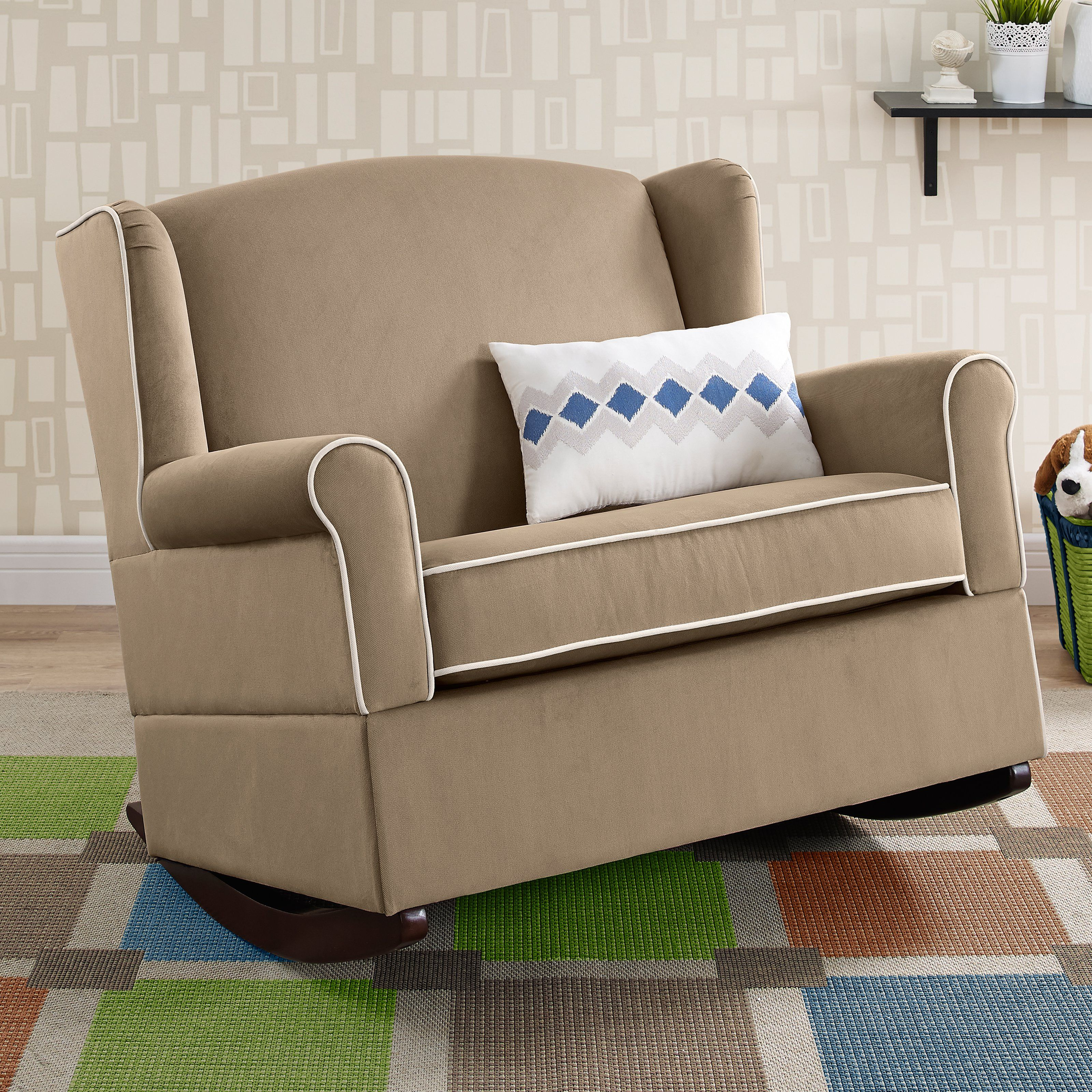 Baby Relax Lainey Wingback Chair And A Half Rocker From Hayneedle Com Chair And A Half Dorel Living Amish Rocking Chairs