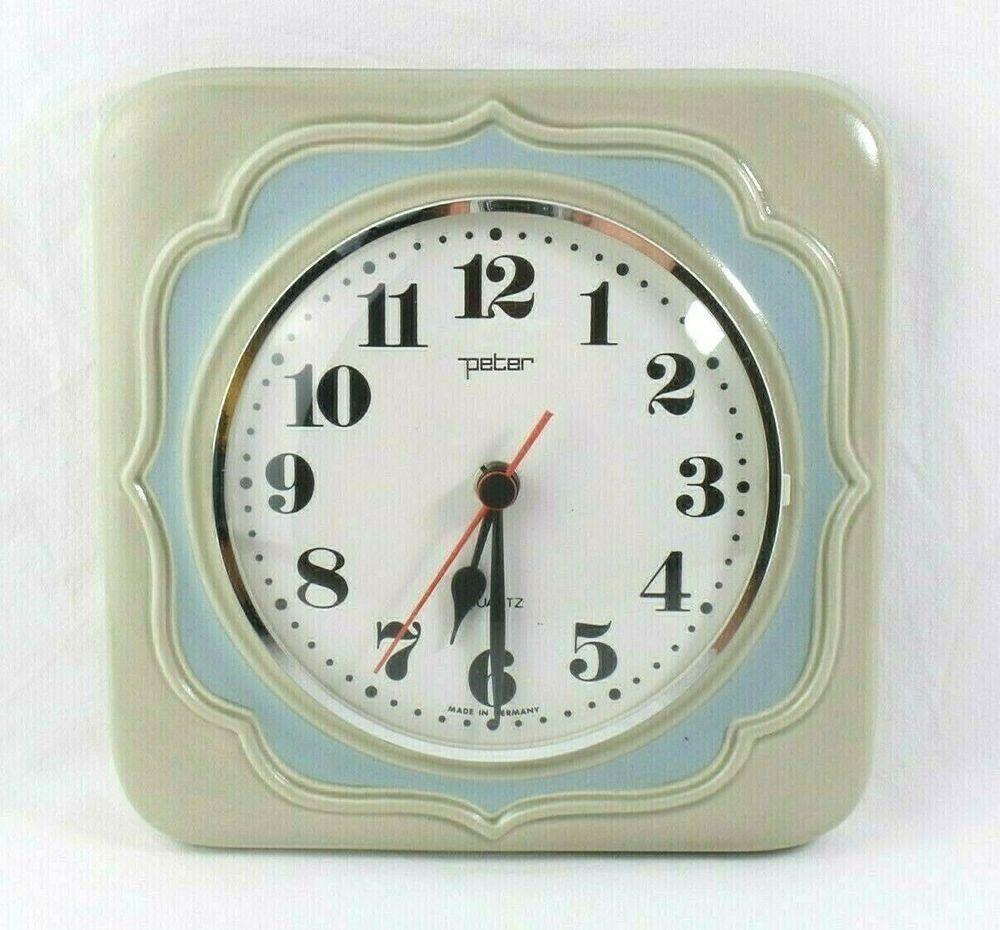 Peter Vintage Quarz Wanduhr Küchenwanduhr Uhr Keramik Qurazuhr 1970er Retro Ebay Wanduhr Küchenwanduhren Uhr