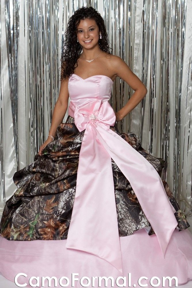 pink camo prom dresses under 100