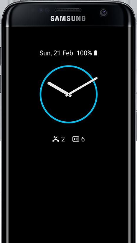 Clock type AOD on the galaxy s7 edge screen