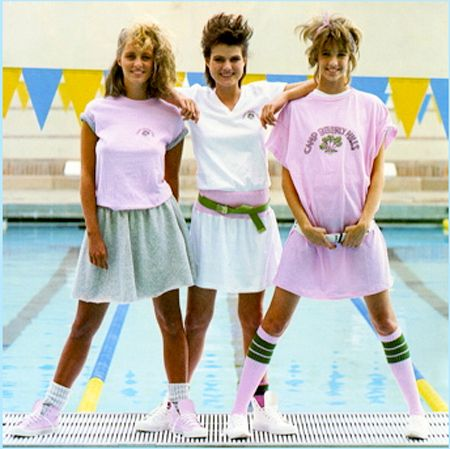 Camp Beverly Hills clothing, 1987- I had the top on the right- why did we think this looked good?