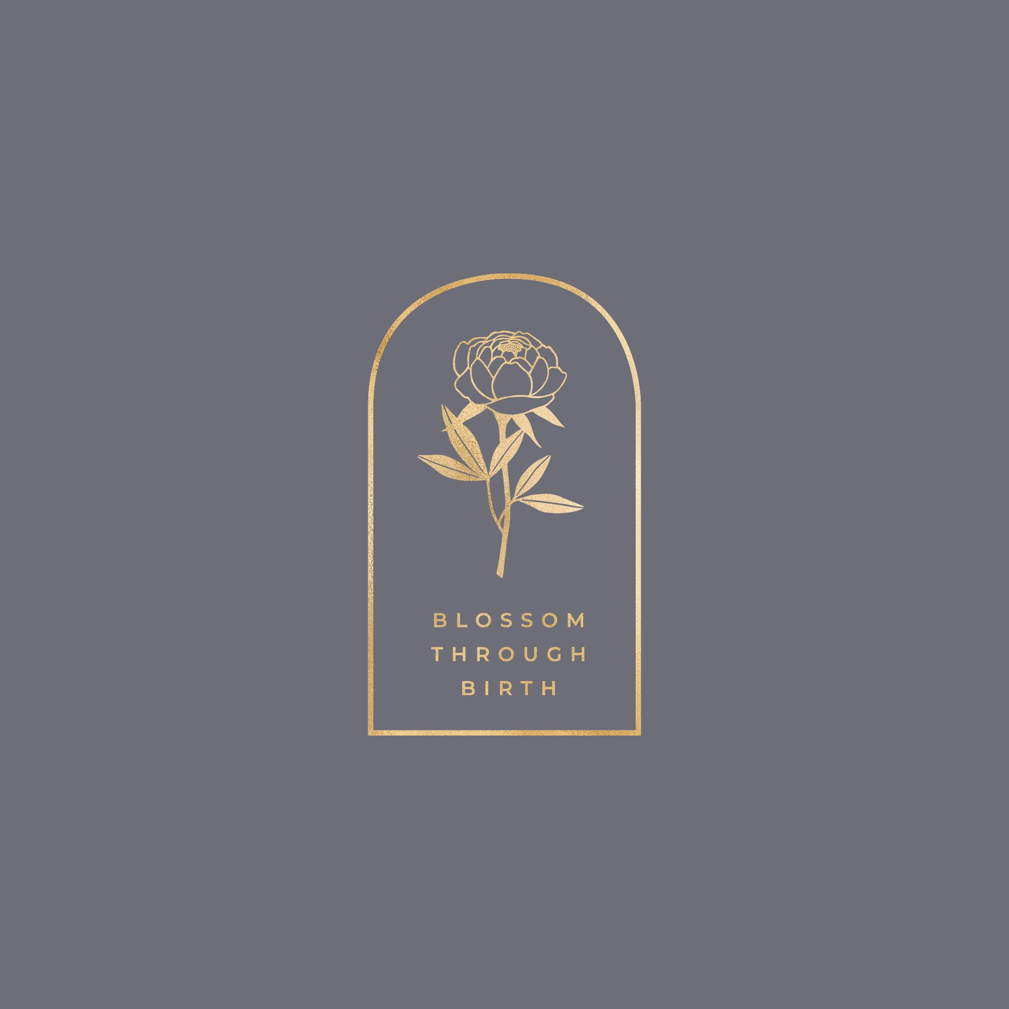 Blossom Through Birth Branding Element For Aroma Birth Organics Floral Logo Design Flower Logo Design Candle Logo Design