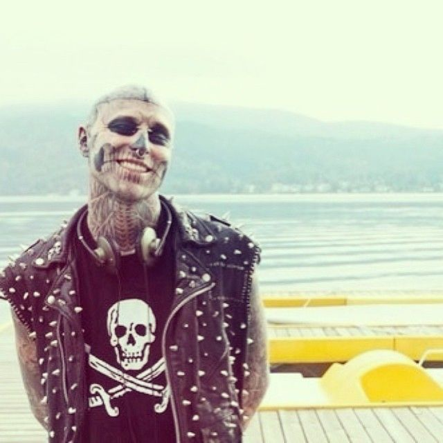 Image result for rick genest smile
