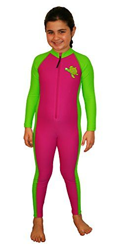 64a9b91bd62 Girls Sun Protection Stinger Swim Suit Rose Green 2 EcoStinger http://www.