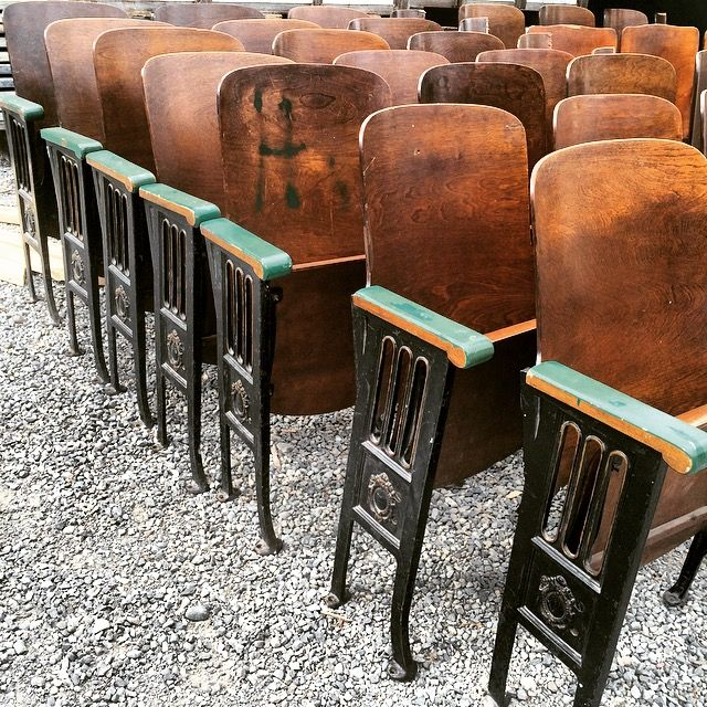 Antique theater seats at EWSalvage Tacoma & Seattle. - Antique Theater Seats At EWSalvage Tacoma & Seattle. Get It