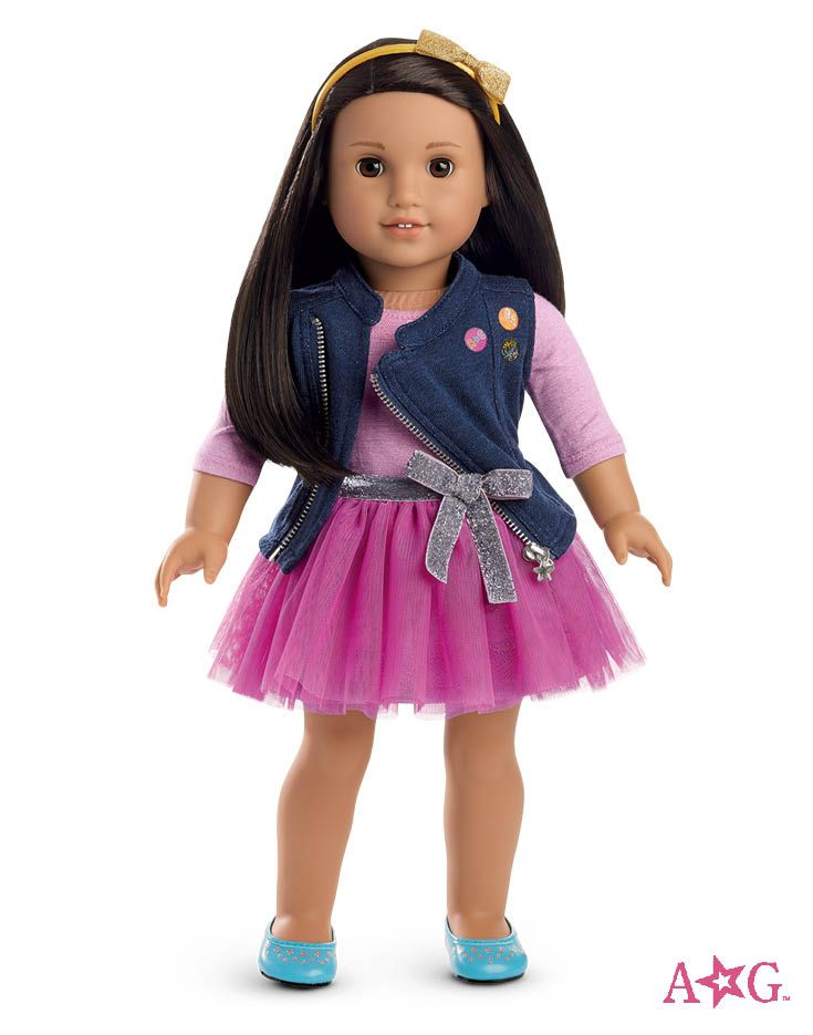 Truly Me Doll Medium Skin Black Brown Hair Brown Eyes With