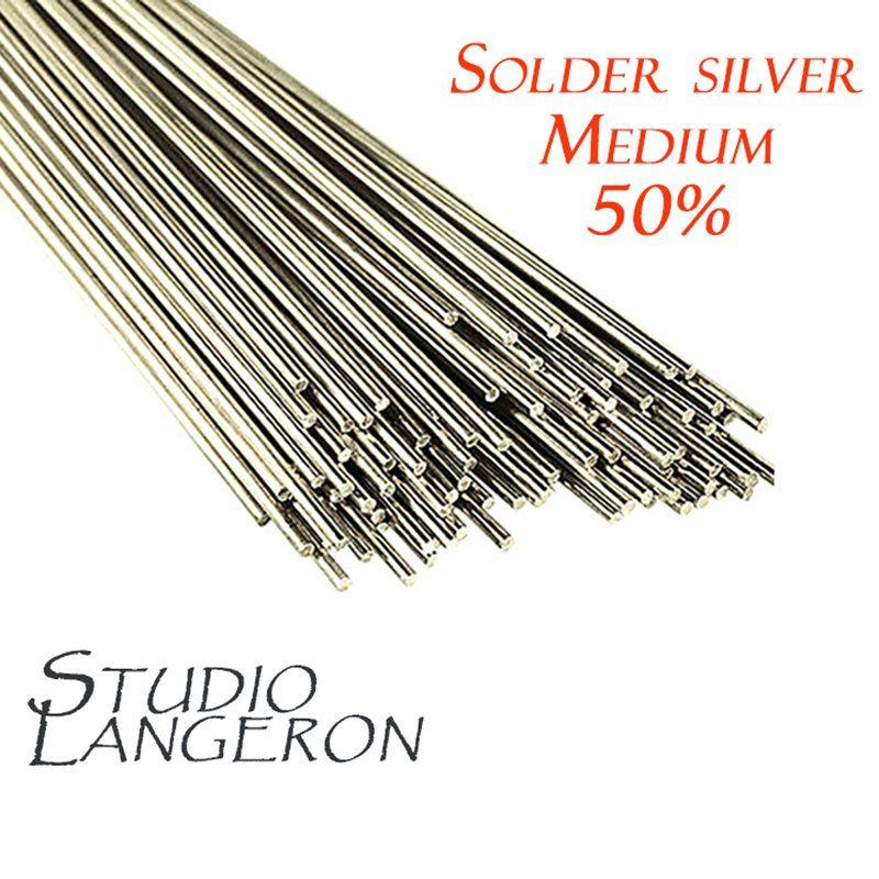Medium solder stick 0.8 mm x 50 cm, Melting Point 670, solder silver, wire  silver, solder, silver 50%, medium solder stick 50 cm - 1 piece by  StudioLangeron ... ee3cae55f68