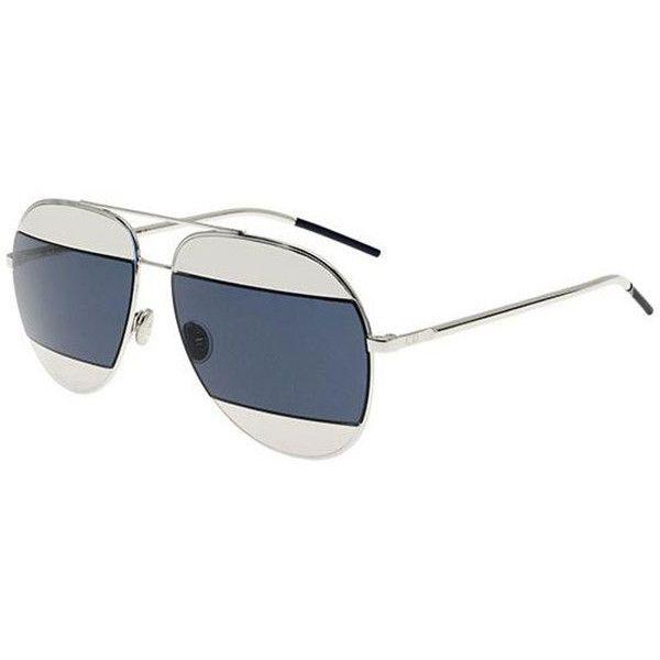 9e3b5a44dc Dior SPLIT 1 010 KU Sunglasses (513 AUD) ❤ liked on Polyvore featuring