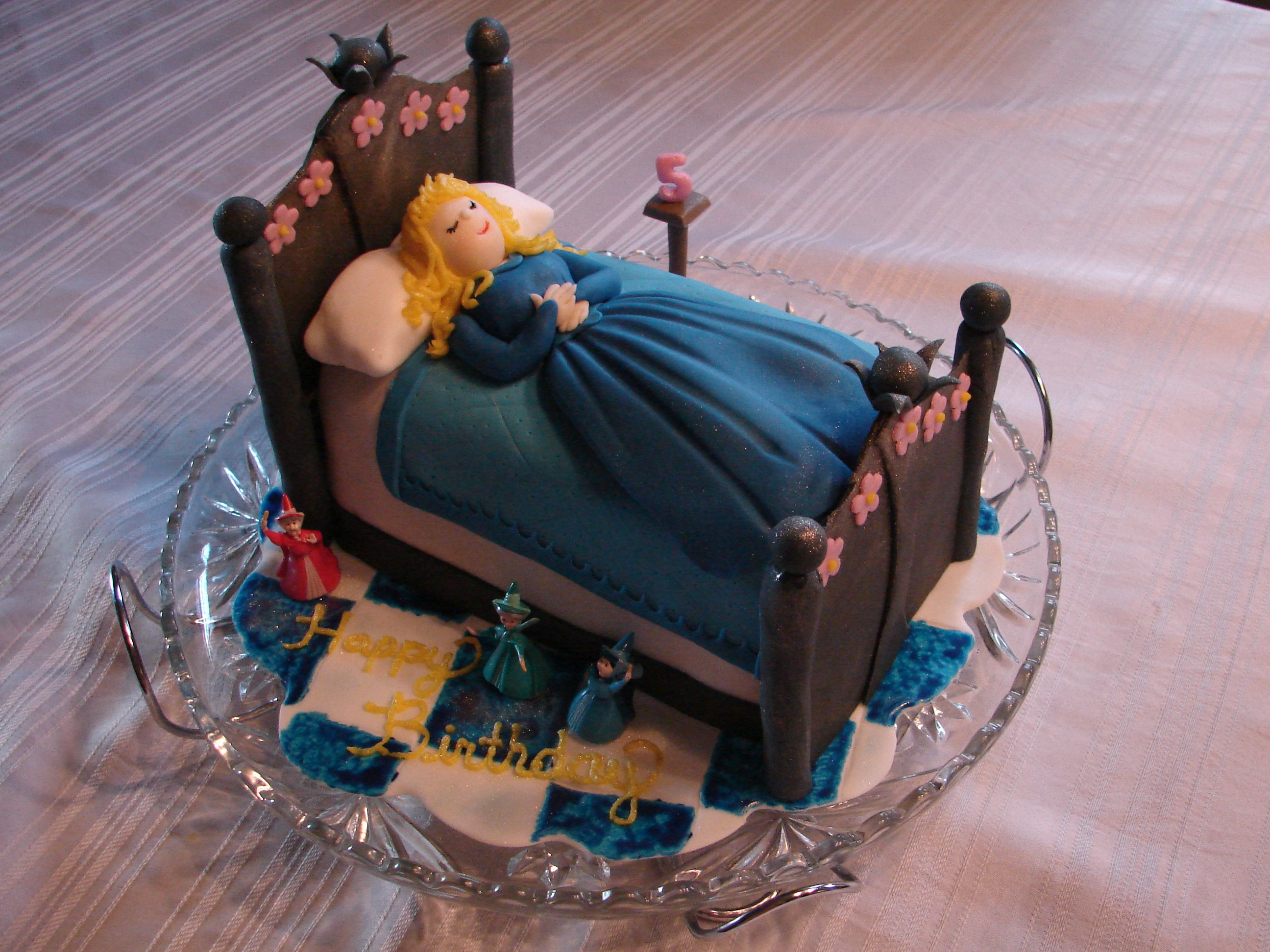 Sleeping Beauty cake I made for my daughter's 5th birthday!