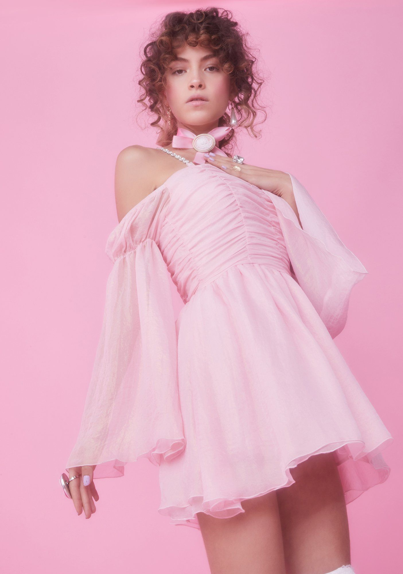 Let Them Eat Me Chiffon Corset Dress Corset Dress Dresses Mini Dress [ 2000 x 1405 Pixel ]