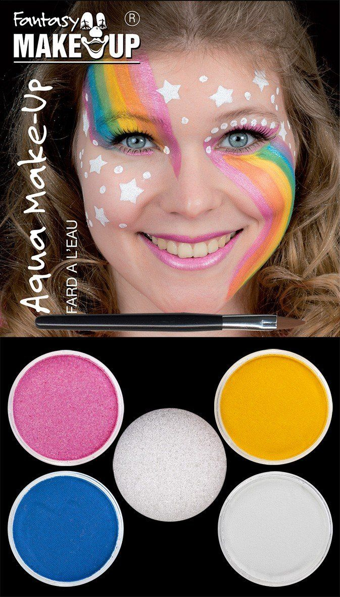 Photo of The toy tester looked at the unicorn make-up Aqua make up 4 colors and …