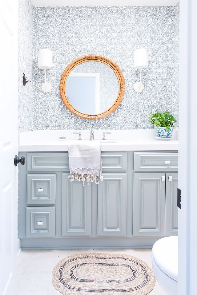 Tour a Bright, Coastal Home With Traditional Bones | Round mirrors ...