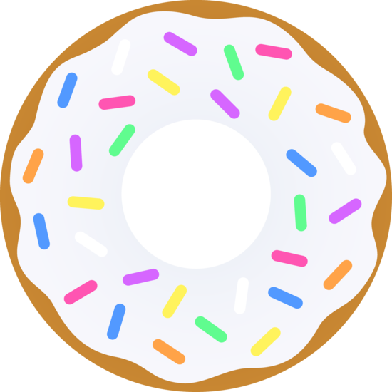 vanilla donut with sprinkles free clip art things i like rh pinterest com donut clipart border donuts clipart free