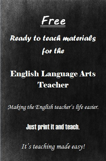 Click on the image for free, ready to teach lessons and resources for the Language Arts Teacher. Enjoy! It's teaching made easy!