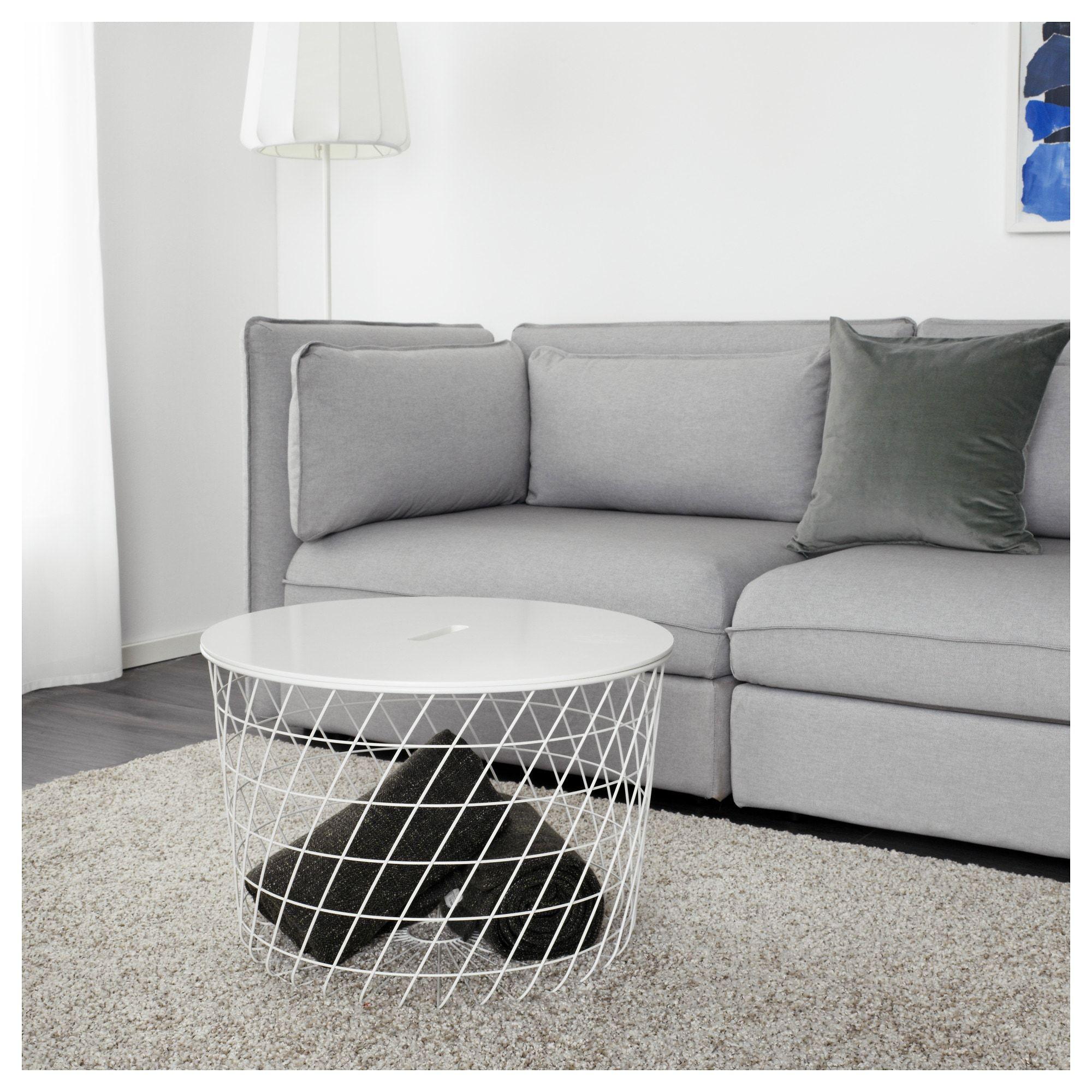 Mobili Bassi Ikea Soggiorno kvistbro tavolino/contenitore - bianco 61 cm (con immagini