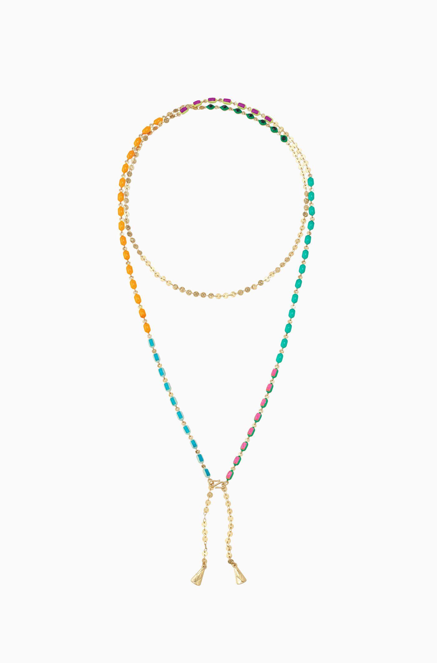 Love Poppy Jewels Long Fringe Layering Necklace Gold exhCKI