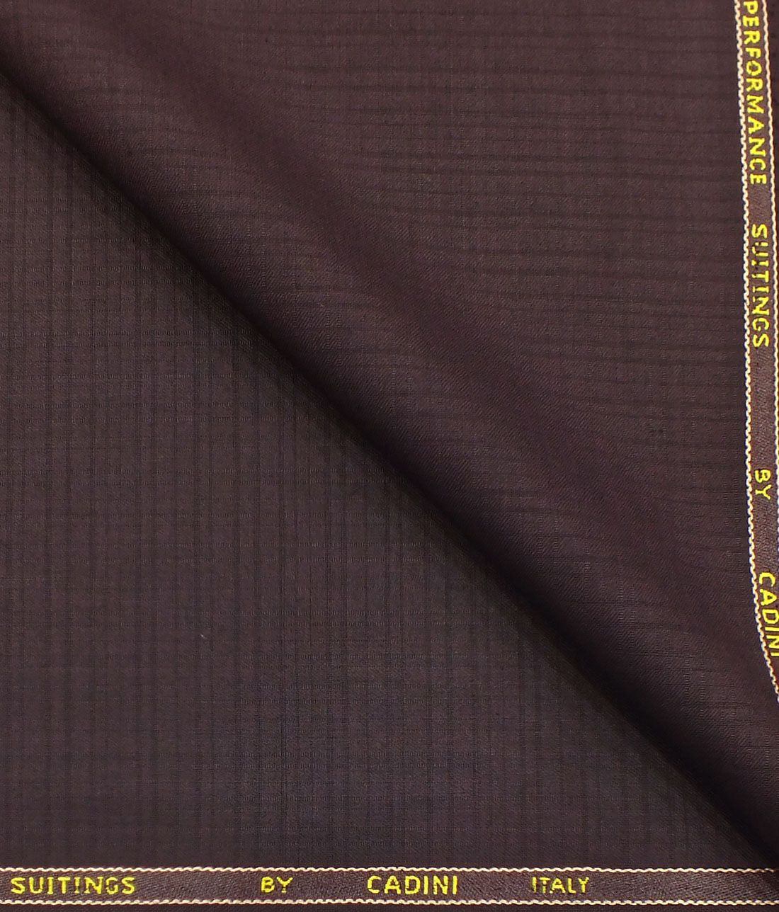 95b1645cf Cadini Italy by Siyaram s Dark Plum Purple Self Design Terry Rayon Trouser  or 3 Piece Suit Fabric (Unstitched - 1.25 Mtr)