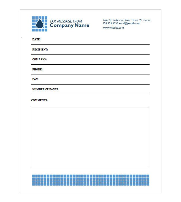 Teardrop Fax Coversheet Documents Pinterest Free printable - fax cover sheet templates