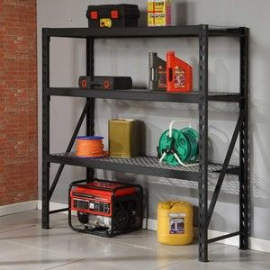 black industrial rack for garage storage does costco still have these get thee to the studio. Black Bedroom Furniture Sets. Home Design Ideas