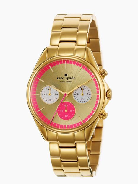 gold bazooka pink dial seaport chronograph= love